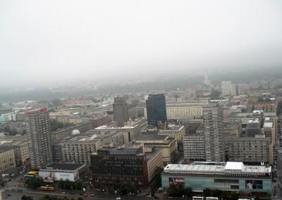 вид с панорамной площадки на Варшаву