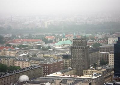 вид со Сталинской высотки на Варшаву