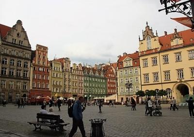 Центральная площадь города.Вроцлав