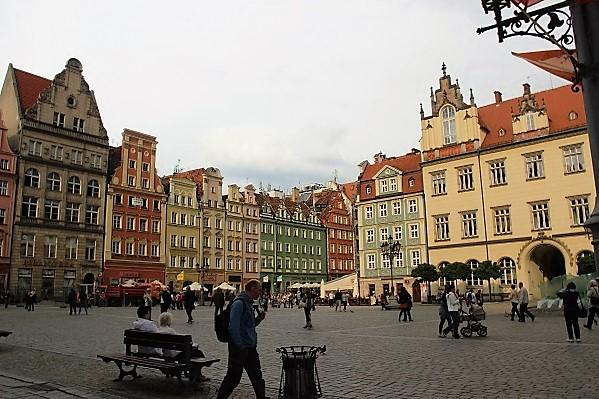 Центральная площадь города,Вроцлав