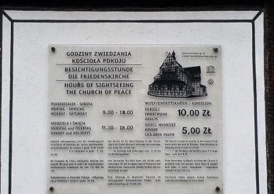 костел Мира в Свиднице ценник