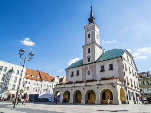 City hall in Gliwice downtown, Poland, Europe