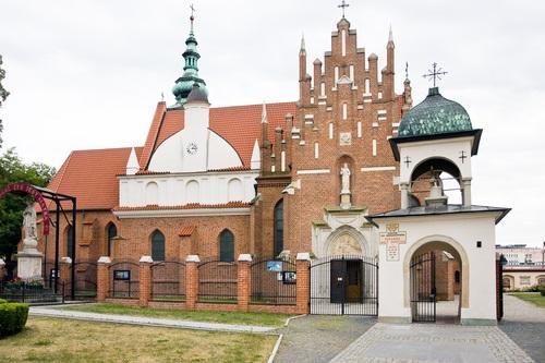 RADOM CITY, POLAND - April 08: Bernadine church and monastery, late gothic sacral architecture XVth century. April 08 2013 Poland