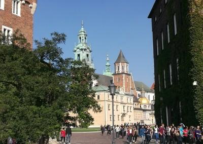 Вид на Кафедральный собор Вавеля